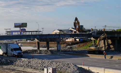 Fairgrounds Rd Overpass Demolition